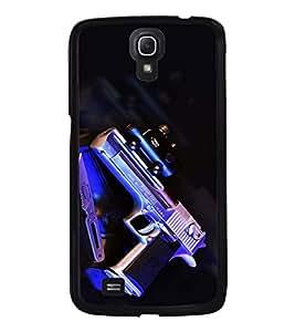 Fuson Premium Revolver Metal Printed with Hard Plastic Back Case Cover for Samsung Galaxy Mega 6.3