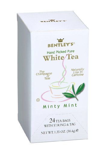 Bentley'S Minty Mint White Tea, 24-Count, 38.4 Gram Boxes (Pack Of 6)