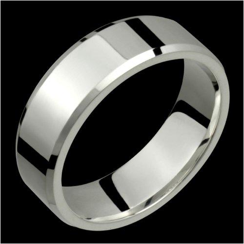 Alma - size 6.25 Bevelled Edge Titanium Band