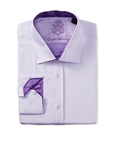 English Laundry Men's Solid Twill Dress Shirt