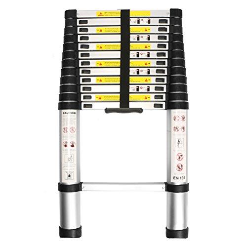 Leapair-Ausziehbar-38m-Teleskopleiter-Anlegeleiter-Leiter-Stehleiter-aus-Aluminium