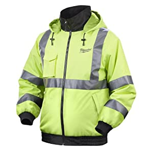 Milwaukee 2346-XL M12 Cordless ANSI Class III High Visibility Heated Jacket - Jacket Only, XL