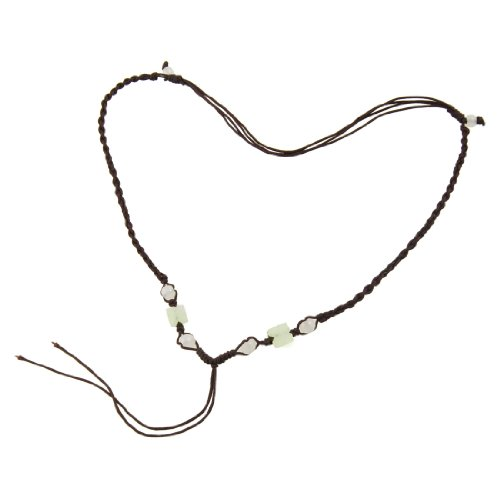 Rosallini 5 Pcs Ladies Coffee Color Braid Plastic Beads Decor Necklace String Chain