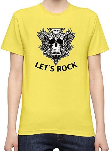 Let's Rock Slogan T-Shirt per Donne XX-Large