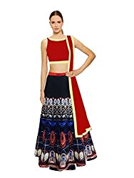 Fashion Galleria Women's Digital Printed Semi-Stitched Lahenga Choli (FG_110)