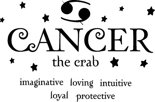 Cancer the crab horoscope zodiac vinyl wall art decal home decor sayings quotes