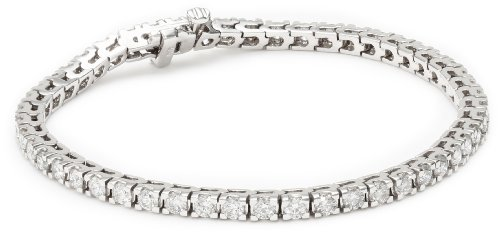 IGI Certified 18K White Gold 4-Prong Diamond Tennis Bracelet (3.0 cttw, H-I Color, SI2-I1 Clarity), 7