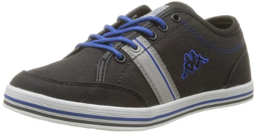 Kappa Boys' Brador Kid Trainers Black Noir (Black/Lt Grey/Blue/White) 33