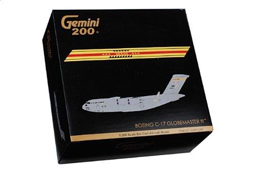 """1:200 ジェミニジェット 200 G2AFO248 マクドナルド ダグラス C-17A Globeマスター III ダイキャスト モデル USAF 15th AW #05-5152 """"魂 of G"""