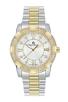 "buy Giorgio Milano 934Stg02 ""Guiliana"" Two Tone Ip Gold With Swarovski Crystals Bezel Watch"