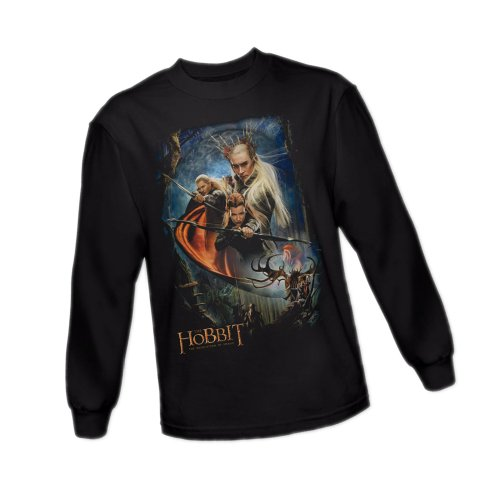 Thranduil's -- The Hobbit: The Desolation Of Smaug Long-Sleeve T-Shirt, Medium (Thranduil Merchandise compare prices)