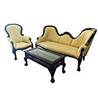 D-ART Louis Double Ended Sofa Set - in Mahogany Wood