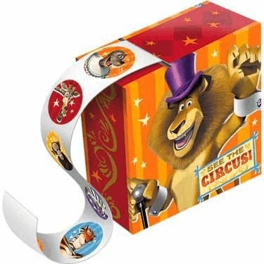 Madagascar 3 Sticker Box 4 Pack