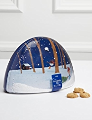 Novelty Snow Globe Biscuit Tin