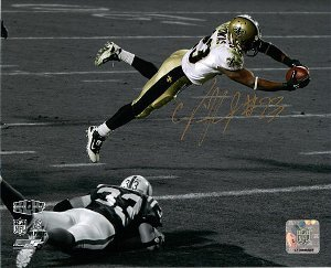 Pierre Thomas signed New Orleans Saints 8x10 Photo (Super Bowl XLIV Dive) at Amazon.com