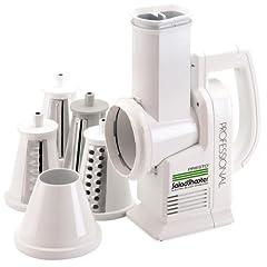 Presto 02970 Professional SaladShooter Electric Slicer/Shredder, White