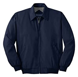 Port Authority Casual Microfiber Jacket>XS Bright Navy/Solid Pewter Lining J730