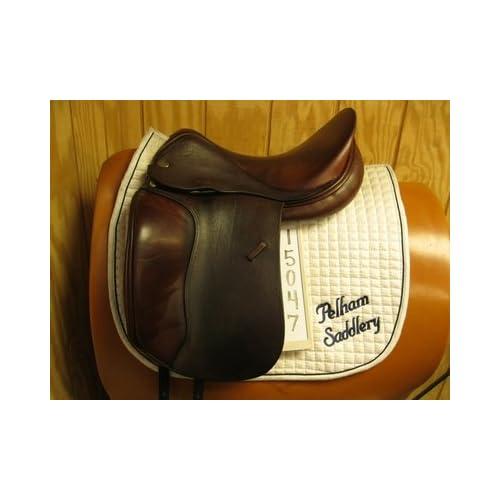 """Amazon.com : Jaguar Used Dressage Saddle 17"""" XW : Sports & Outdoors"""