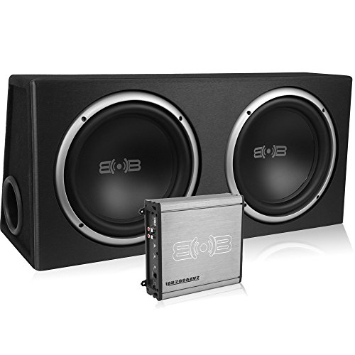 Belva 1000 watt Complete Car Subwoofer Package includes Two (2) 10-inch Subwoofers in Ported Box, 1000 watt Monoblock Amplifier, Amp Wire Kit [BPKG210v2] (Dual Subwoofer Package compare prices)
