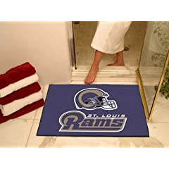 NFL Novelty Starter Mat NFL Team: St. Louis Rams, Size: 2