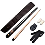 147 Combo 16(American Pool Cue Metal Joint 12mm,black Cue Cover,glove,chalk Holder N Two Tip Caps)