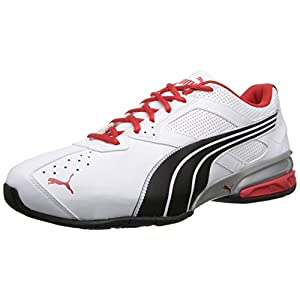 PUMA - Tazon 5 - Wide Width (White/Black/High Risk Red) Men's Classic Shoes