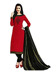 Aarvi Women's Cotton Unstiched Dress Material Multicolor -CV00148