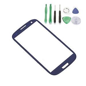 For Samsung Galaxy SIII i9300 / Screen Glass Lens - Dark Blue