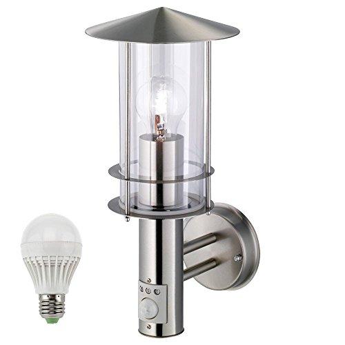 LED-Design-Auen-Wand-Leuchte-Sensor-Haustr-Beleuchtung-5-Watt-Edelstahl-Lampe
