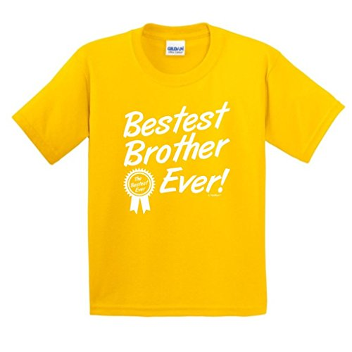Bestest Best Brother Ever, Brother Gift Youth T-Shirt Small Daisy