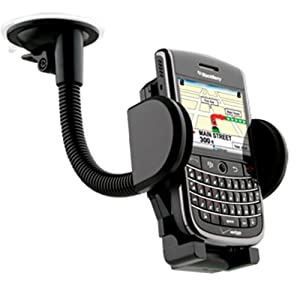 Solid Gooseneck Flexible Windshield Suction Cup Mount Holder For HTC One X
