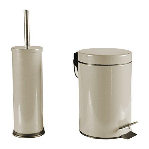 WC-Garnitur-SET-Mlleimer-WC-Brste-Treteimer-Toilettenbrste-Brste-Badezimmer-Set-Beige