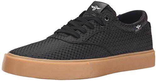 Creative Recreation Men's Prio Fashion Sneaker, Black/Ripstop/Gum, 10.5 M US
