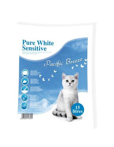 Europet-Bernina-447-416921-Katzenstreu-Pure-White-Sensitive-Duft-Pacific-Breeze-05-2-mm-15-Liter