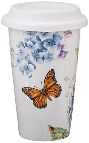 Lenox Butterfly Meadow Blue Thermal Mug, White