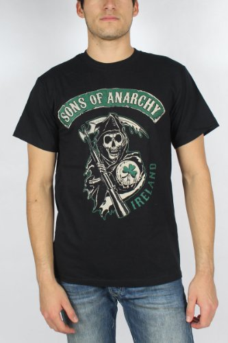 Sons of Anarchy - Mens Ireland T-Shirt in Black, Size: XX-Large, Color: Black