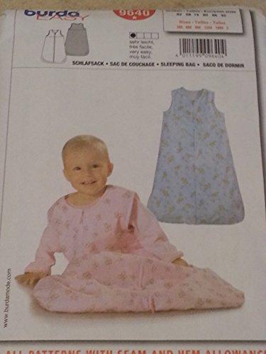 Burda 9640 Infant'S Sleeping Sac Or Bag Sizes 3 Months-2 Yrs. front-766444