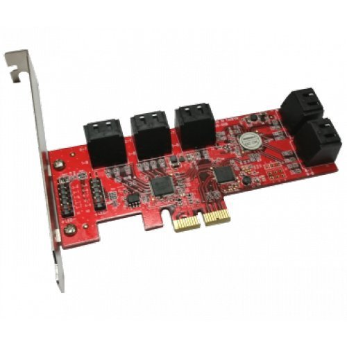 10 Ports AHCI 6Gbps SATA III Low Profile PCIe 2.0 Host Adapter (Sata Ahci Controller compare prices)