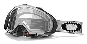 Oakley Mayhem MX - Máscara de sol para bicicleta o moto blanco y transparente