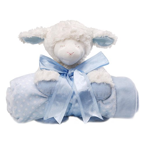 Gund Baby Blanket Set,Winky Lamb Blue (Discontinued by Manufacturer)