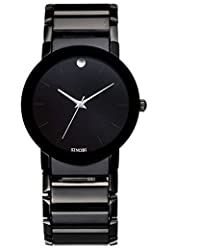 ufengke? waterproof most stylish watch for men/boys-black band black dial