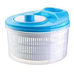 Kitchen Tool Dry Off-Fruit Vegetable Salad Spinner Dryer Colander Strainer - blue, 6 x 9