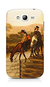 Amez designer printed 3d premium high quality back case cover for Samsung Galaxy Grand Neo (Oil painting nature men old times art)