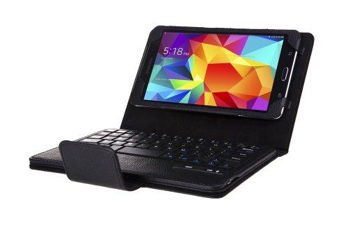 WAWO Samsung Galaxy Tab 4 7.0 Inch Tablet Creative Bluetooth Keyboard Case - Black