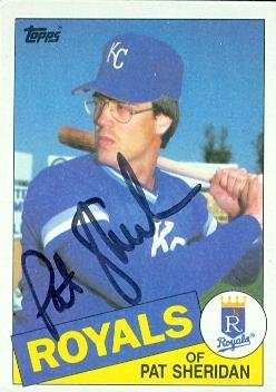 Pat Sheridan autographed Baseball Card (Kansas City Royals) 1985 Topps #359