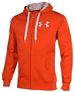 Under Armour Men's UA Loose Fit Storm Zip Up Hoodie-Orange-Large