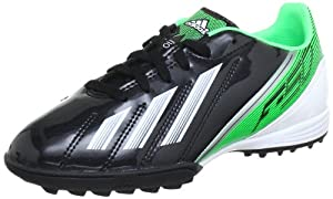 ADIDAS F10 TRX TF Chaussures de Football pour Enfant - Noir - Schwarz (BLACK 1 / RUNNING WHITE FTW / GREEN ZEST S13), 38 EU