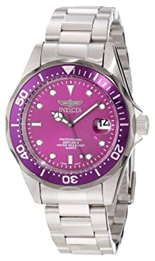 buy Invicta Women'S 12815 Pro Diver Purple Dial Watch With Extra Rubber Strap
