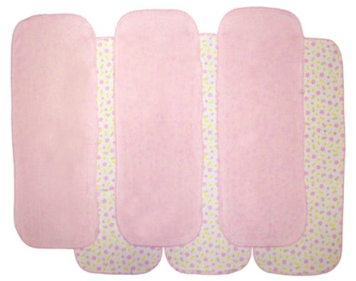 Neat Solutions 6 Pack Print/Solid Knit Terry Burpcloth Set, Colors May Vary