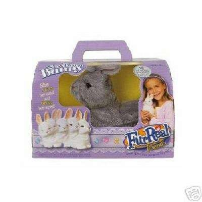 Hasbro FurReal Friends Special Edition Newborn Bunny Rabbit - Grey and White - 1